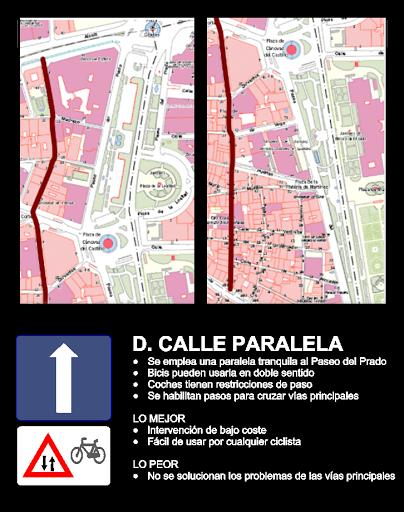 Opciones para reformar el paseo del prado en bici por madrid for Okafu calle prado 10