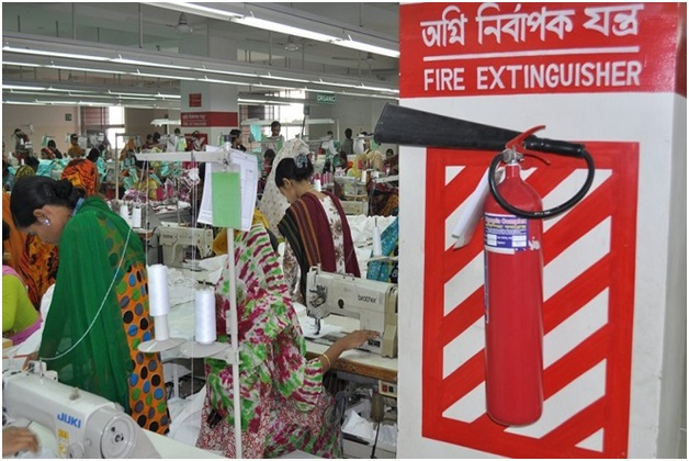 Safety items in garment industry