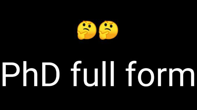 phd full form