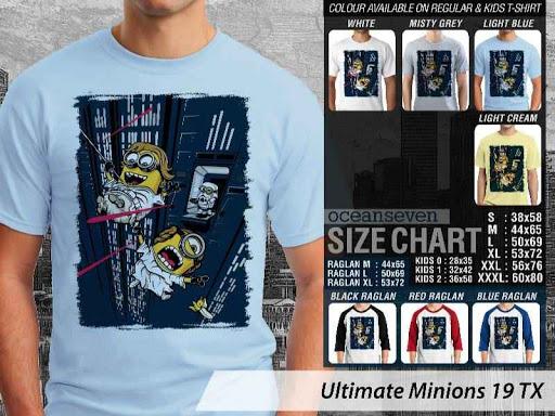 Kaos Kartun Ultimate Minions 19 distro ocean seven