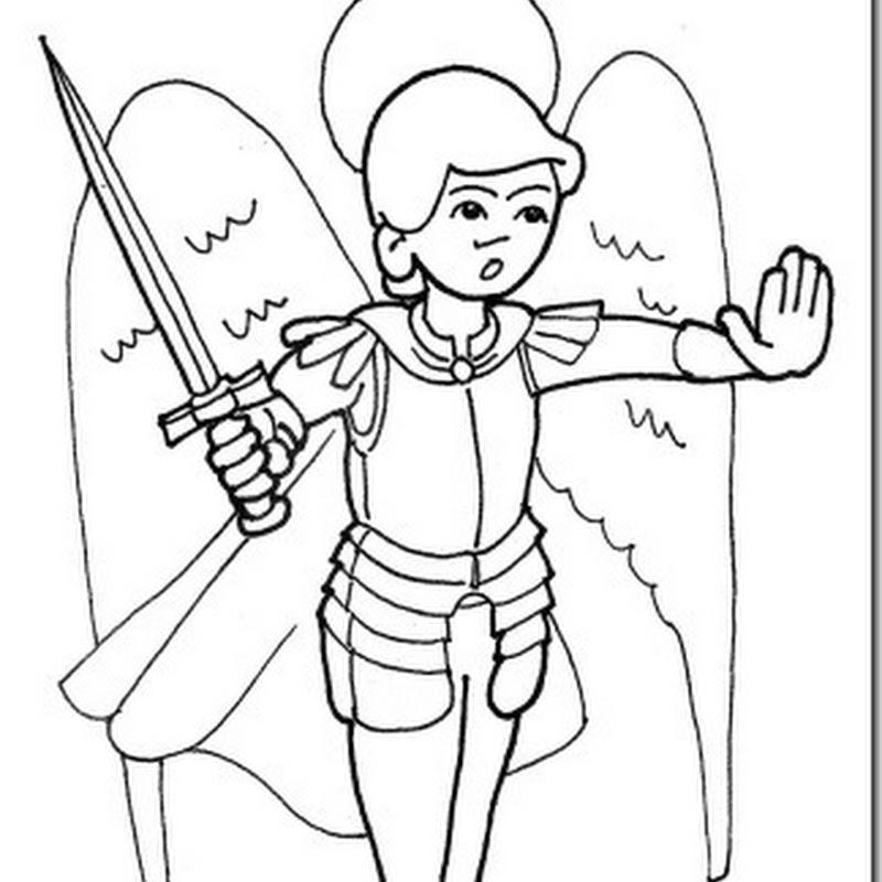 Dibujos para colorear de San Miguel Arcángel para niños