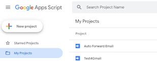 forward mail by google app script