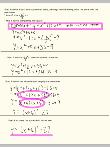 Convert a quadratic equation from standard into vertex form by convert a quadratic equation from standard into vertex form by completing the square derivatives investing blog articles ccuart Choice Image