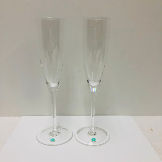 Tiffany & Co. Crystal Champagne Flute Pair