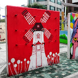 cool street art in Hongdae in Seoul, Seoul Special City, South Korea