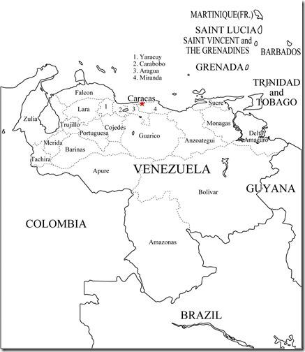mapa politico de venezuela