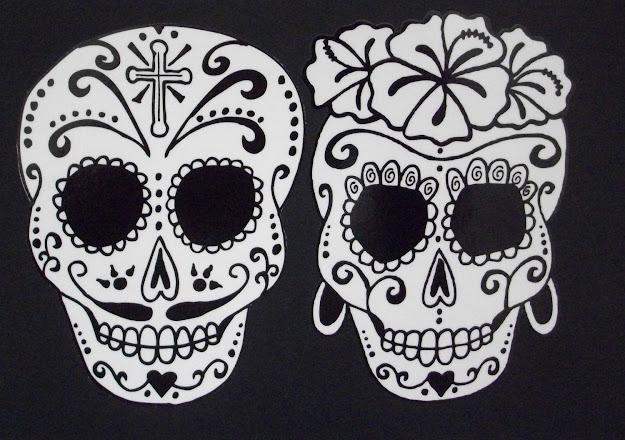 Day Of The Dead Art Catrina Sugar Skull Couple