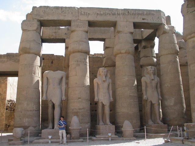 Patio en el Templo de Luxor