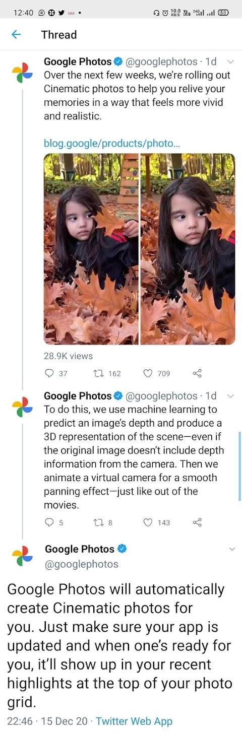 ગૂગલ ફોટો 3D વર્ઝન લાવી રહ્યું છે..પણ એક શરત છે..