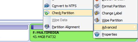 Check partition