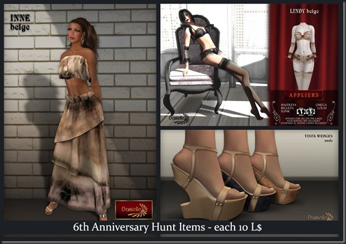 Danielle 6th anniversary hunt items