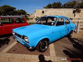 Blue Ford Escort