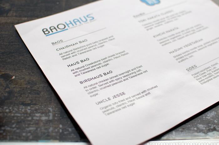 BaoHaus pop-up at Toki Underground menu