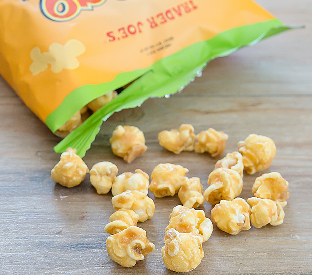 close-up photo of Mango Coconut Caramel Corn
