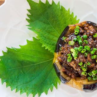Nikumiso Dengaku (Stuffed Eggplant).