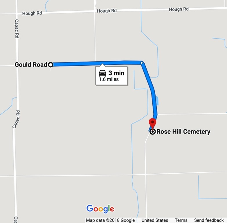 Gould rd near Rose Hill cem map