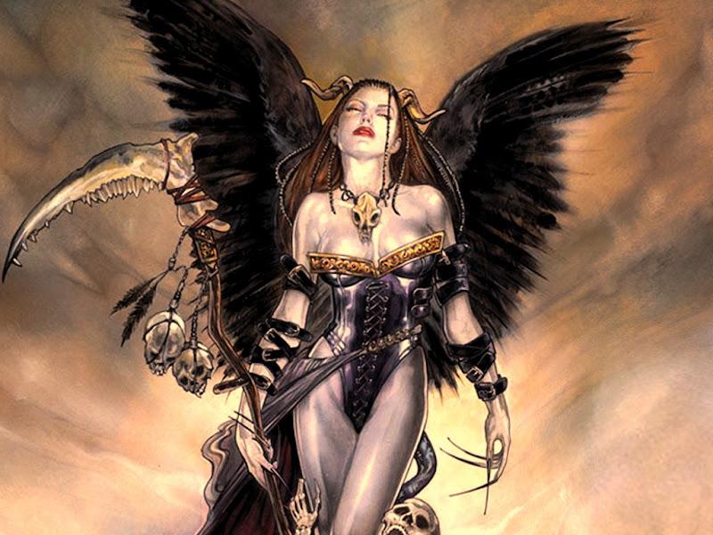 Dark Angel With Sculls, Demonesses