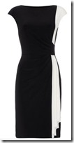 Lauren Ralph Lauren Two Tone Ruched Dress