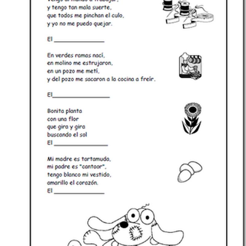 Adivinanzas para niños en pdf