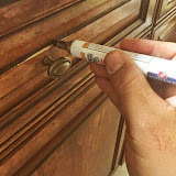 "Cabinet Refinishing: Mohawk ""Magic"" stain pens for blending over damage"