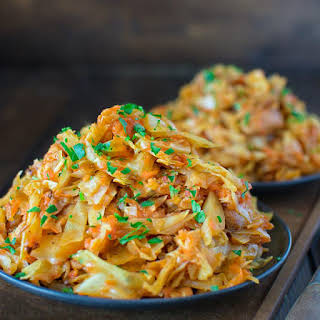 Cabbage Sauteed with Chicken.