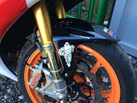 Michelin front Mudguard decal