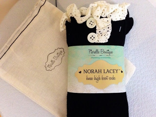 Fiorelle Norah Lacey Knee- High Boot Socks And My Fashion Statement | The Color Wheel Gallery