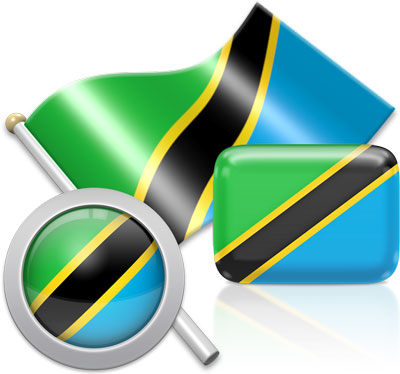 Tanzanian flag icons pictures collection