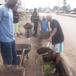 BCC Cleans public guttters in Bonduma