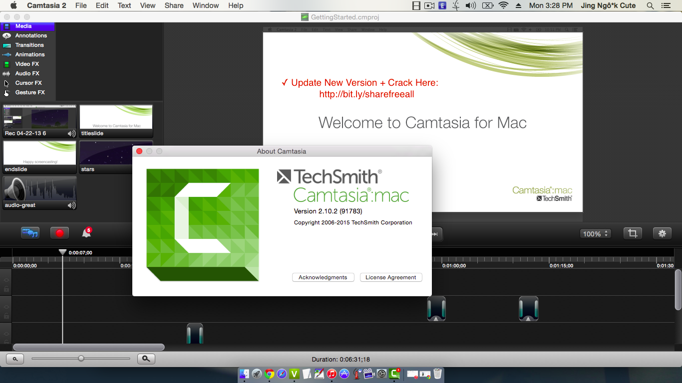 Camtasia serial number
