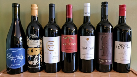 September 2017 BC wine collectibles