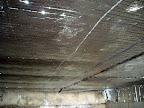 Condo Basement View of Double Bubble Foil Insulation