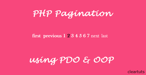 How to create Pagination with PHP, PDO using OOP