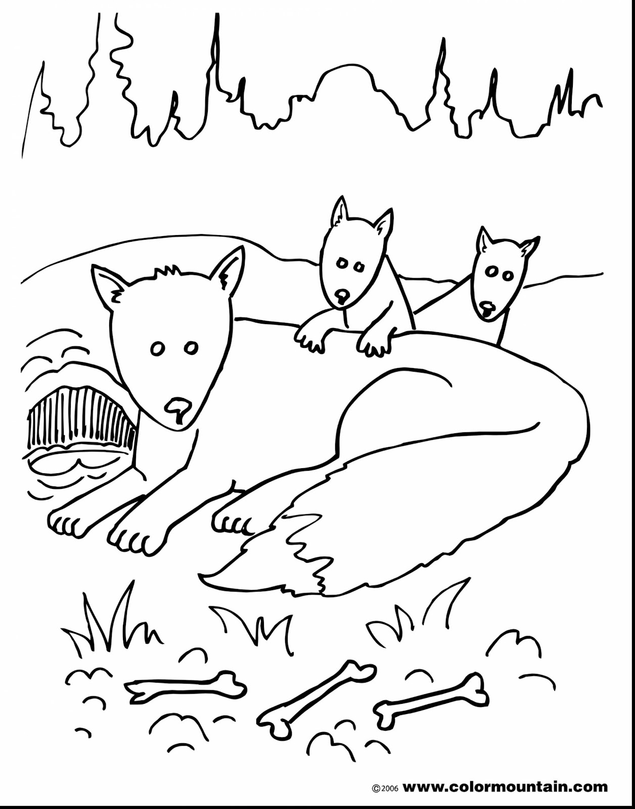 Extraordinary Fox Family Coloring Pages With Fox Coloring Pages And Baby Fox Coloring Pages
