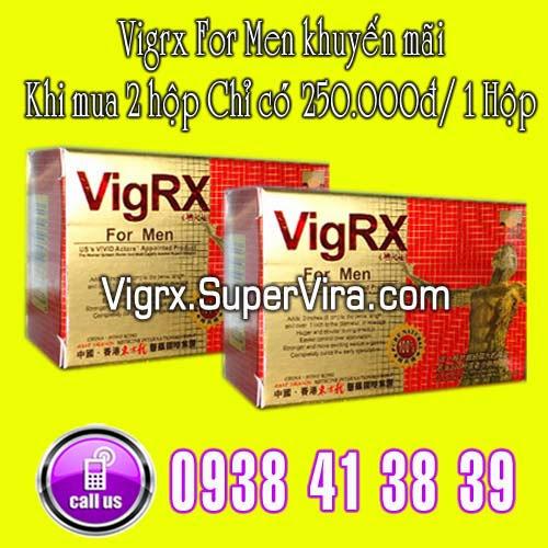 Vigrx For Men khuyến mãi đặc biệt Khi mua cùng lúc 2 hộp Vigrx For Men với giá chỉ còn  250.000đ/ 1 Hộp