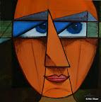 098 - Mona - 2003 80 x 80 - Huile sur toile