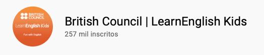 101 canais do YouTube para aprender inglês de graça British Council | LearnEnglish Kids
