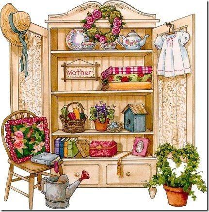 láminas antiguas, ilustraciones viviendas  (1)