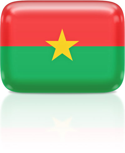 Burkinabé flag clipart rectangular