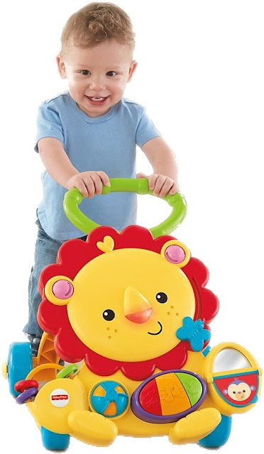 Xe tập đi Sư tử Fisher Price Musical Lion Walker an toàn đối với trẻ nhỏ