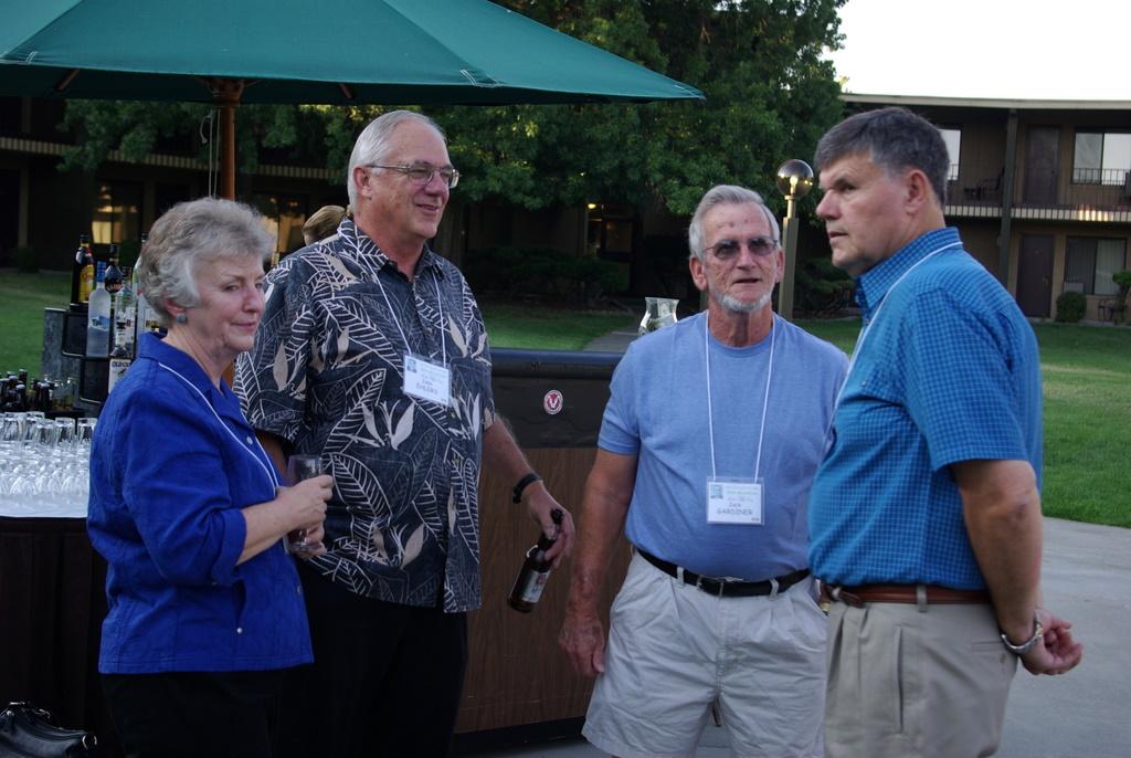 Bev and John Ehlers, Jack Gardiner, Jim Horton