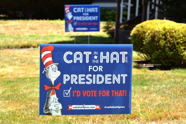 Dr. Seuss Vote Election Cat in the Hat President yard sign