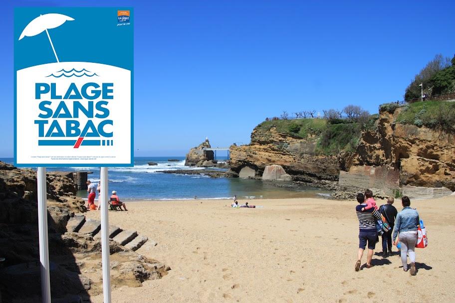plage sans tabac à biarritz
