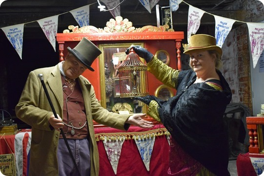The Palace of Curiosities at The Crown - Mr Oxley and  Clare Oxley