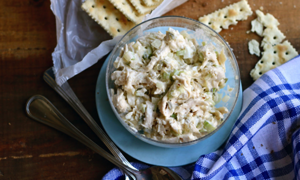 Chicken salad with hard boiled eggs