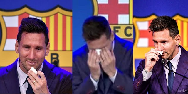 Moment Lionel Messi Breaks down in Tears at Bercelona Press Conference [Video]