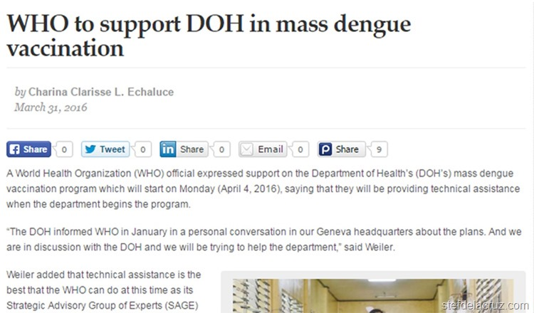 new MB dengue vaccine article