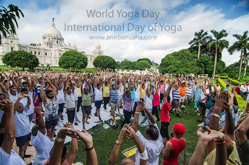 International Day of Yoga, Kolkata, Calcutta, Victoria Memorial Hall, Victoria