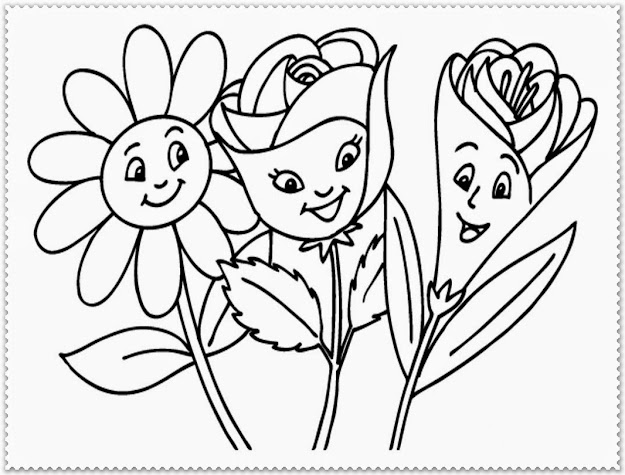 Spring Flower Coloring Pages  Spring Flowers Google Search Flower Coloring  Pages