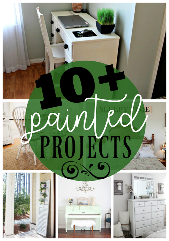 10 Painted Projects at GingerSnapCrafts.com #DIY #paint #forthehome